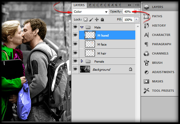image-25 Working with Photoshop's Blending Modes to Color a Black and White Photo