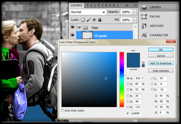 image-26 Working with Photoshop's Blending Modes to Color a Black and White Photo