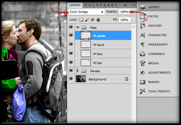image-27 Working with Photoshop's Blending Modes to Color a Black and White Photo