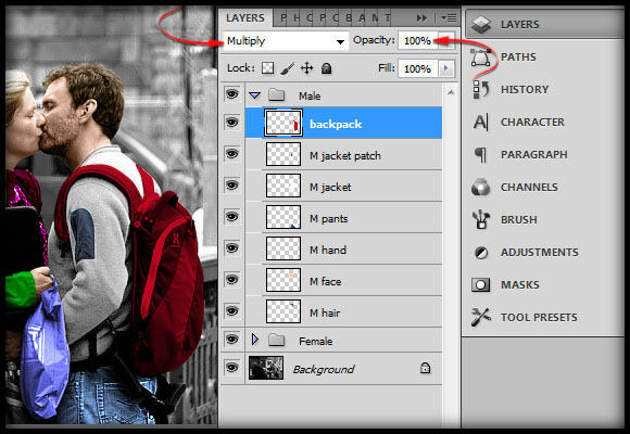 image-33 Working with Photoshop's Blending Modes to Color a Black and White Photo