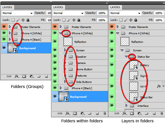 layers-and-folders 13 Common Photoshop Mistakes and Malpractices with Remedies
