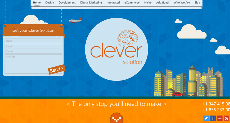 10-Clever-Solution Attention to Branding: 20 Websites with Beautiful Logotypes