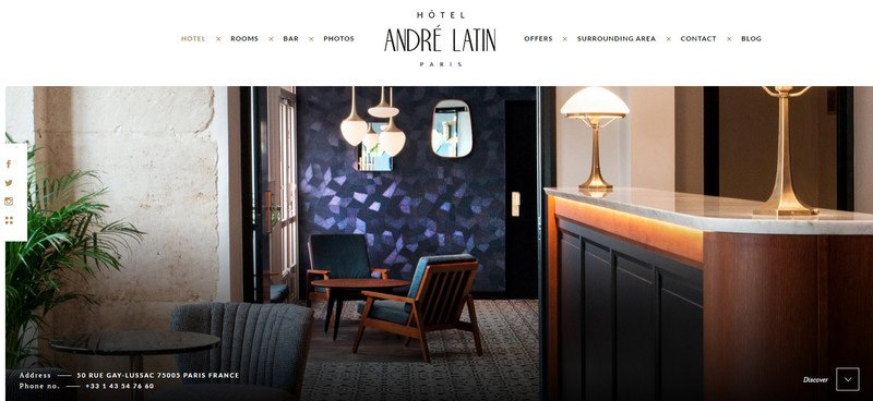 19-Hotel-Andre-Latin Attention to Branding: 20 Websites with Beautiful Logotypes