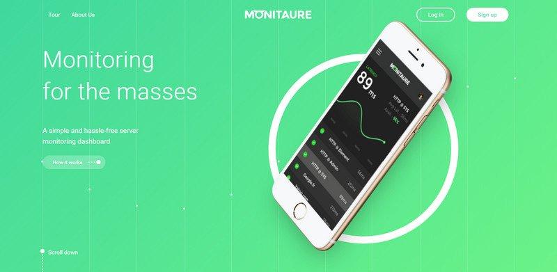 19-Monitaure 20 Beautiful and Stylish Startup Web Designs