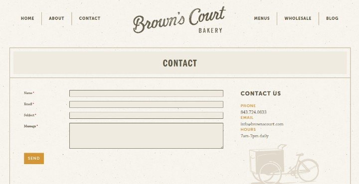 Browns-Court-Bakery Contact Us Page Best Practices with 22 Fantastic Examples