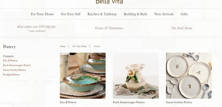 bella-vita 5 Tips and Tricks For An Effective eCommerce Site With 10 Brilliant Examples