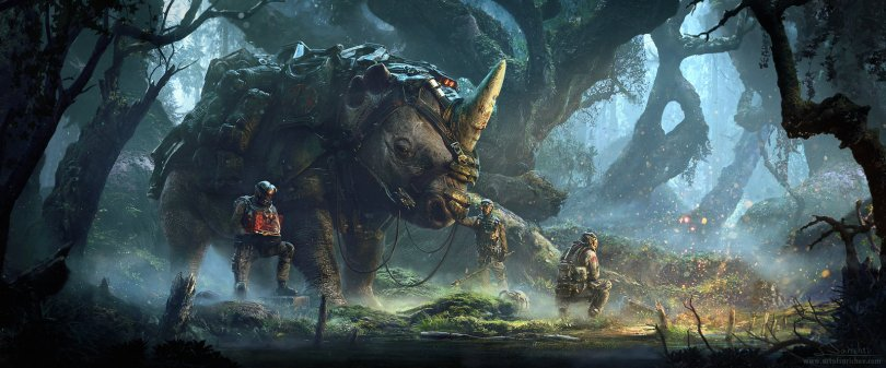 jungle-deep 34 Breathtaking Examples of Sci-Fi Art Found on Deviant Art