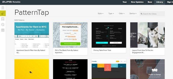 pattern-tap 15 Amazing CSS Web Design Galleries