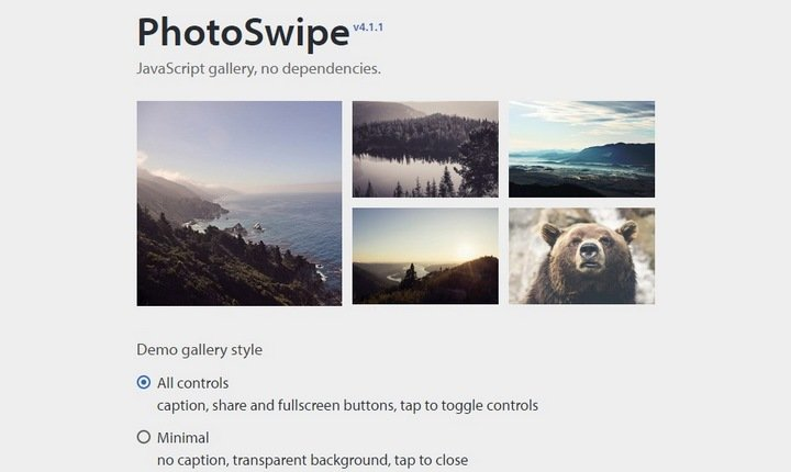 photswipe 15+ Great jQuery Images Gallery Plugins To Showcase Your Work