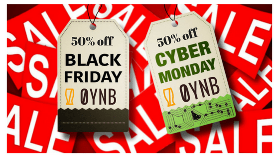 50% off Black Friday / Cyber Monday Discount Bonanza!