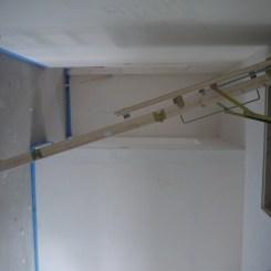 L'escalier escamotable du grenier
