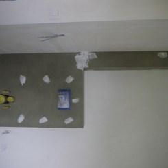 Le caisson des WC de l'étage