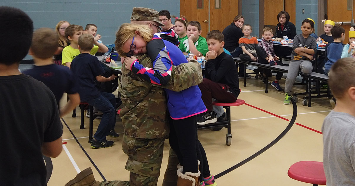 A Christmas Reunion.A Christmas Reunion Soldier Surprises Family At Spencer