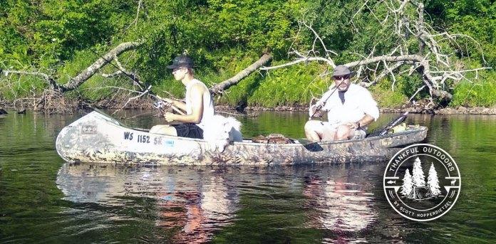 canoe on Wisconsin River