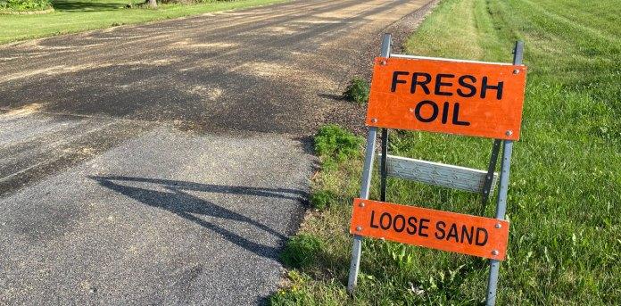 fresh oil loose sand
