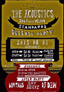 """THE ACOUSTICS 3rd Full Album """"STANDARDS"""" Release Party"""