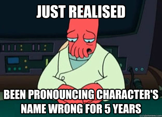 Zoidburg pronouncing character's name wrong