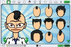 character hair selection
