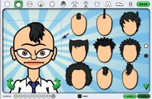 character hair selection