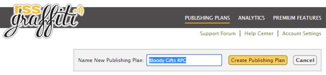 New publishing plan