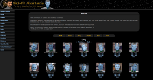 Star trek avatars website screenshot