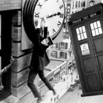 harold lloyd hanging around with the TARDIS