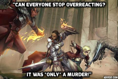 can everybody stop overreacting, it was only a murder!