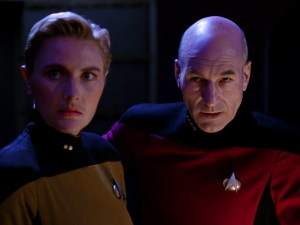 "Yar and Picard in ""Yesterday's Enterprise"""