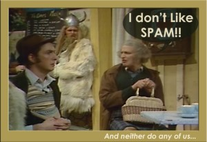 dont like spam monty python
