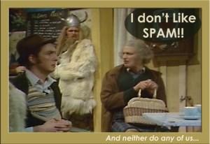 dont like spam monty python