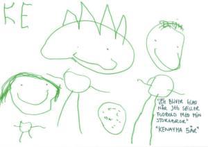 tegning tegnet af anbragt barn børnehjælpsdag
