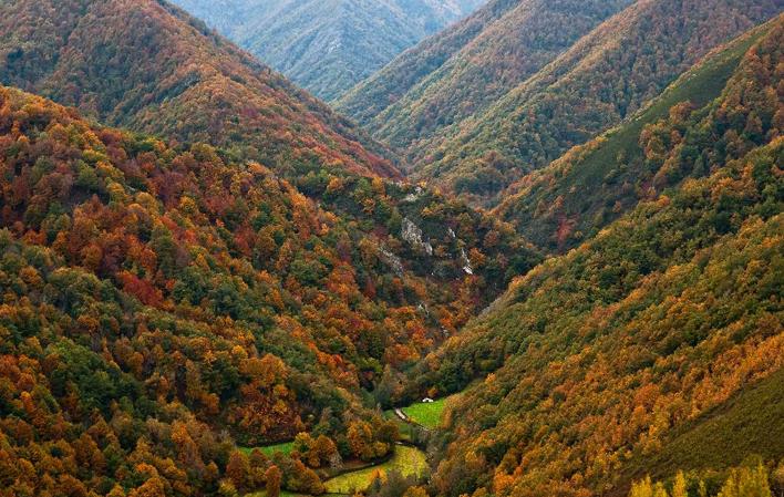 paisajes otoñales en Asturias