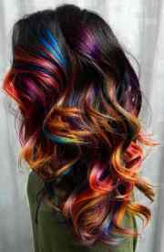fabulous rainbow hair color