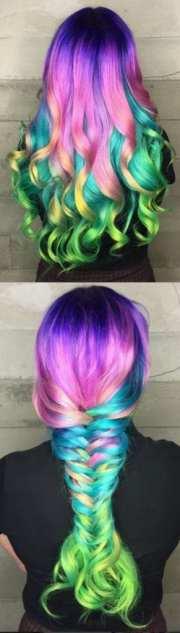 fabulous rainbow hair color