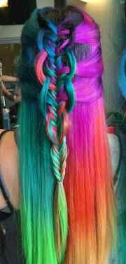 crazy dyed hairstyles