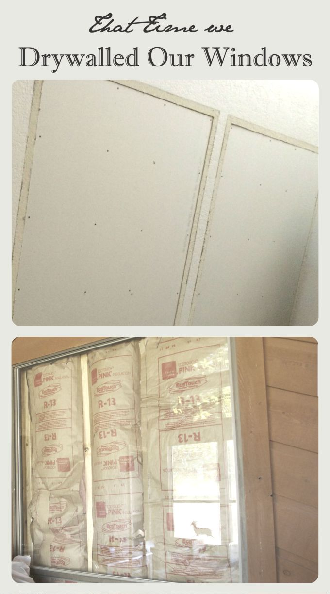 Drywall Over Windows