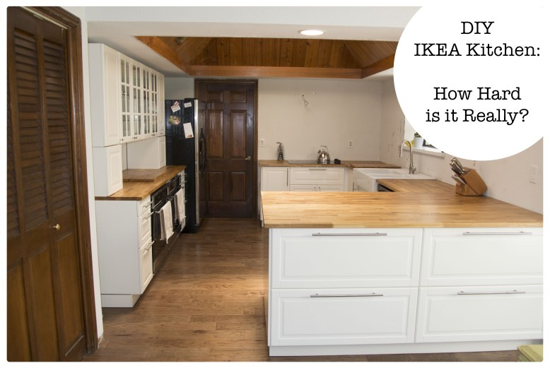 diy ikea kitchen how hard is it really - Ikea Kitchen Remodel