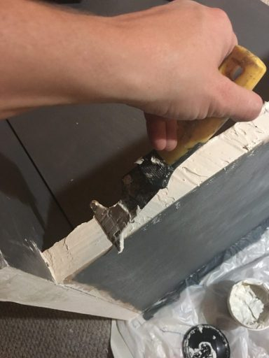 How to build a sofa, filling raw edges