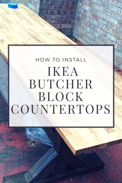 How To Install Ikea Butcher Block Countertops On House And Home