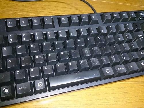 掃除が終わったキーボード