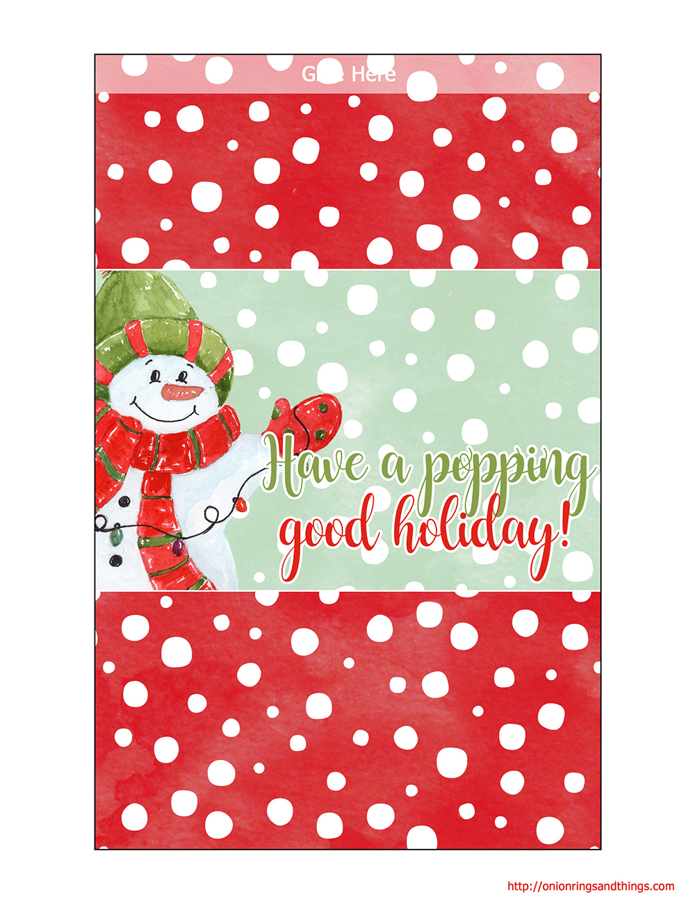 Christmas Gift Giving FREE Printables Onion Rings Amp Things