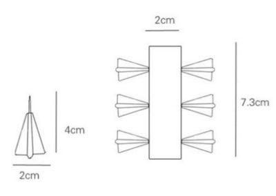 chinchetas-avión-de-papel