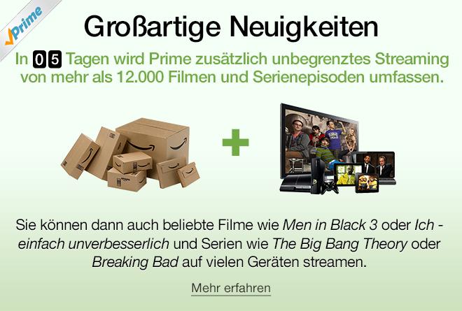 Amazon Prime nun mit Prime Instant Video in Deutschland