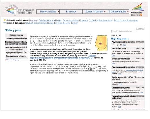 www.linkos.cz – Rakovina prsu
