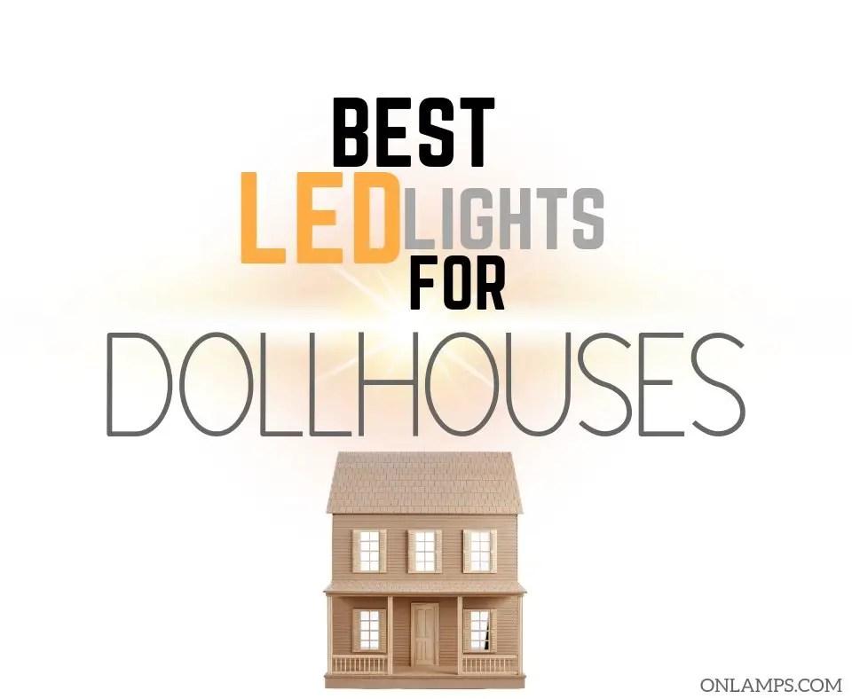Dolls House Modern Brass Desk Lamp LED Battery Light Miniature Lighting