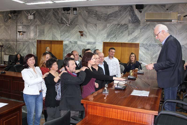 Ορκίστηκαν νέοι επιτυχόντες του ΑΣΕΠ στο Δήμο Λαρισαίων- Δείτε φωτογραφίες