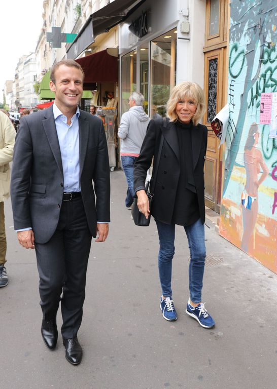 Femme Brigitte Trogneux 640 Mireille Mathieu Emmanuel Macron Marine