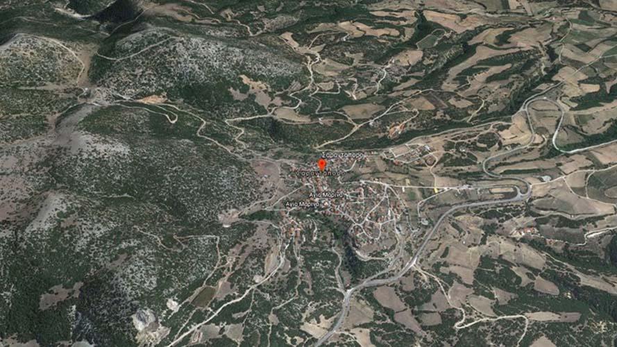 Αυτή είναι η περιοχή όπου έπεσε το ελικόπτερο - Πάνω σε κολόνα της ΔΕΗ δίπλα στο δρόμο