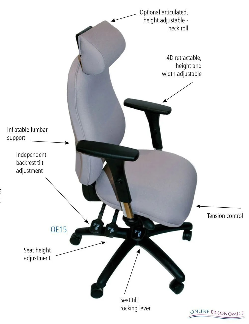 OE15 Ergonomic Chair  Online Ergonomics