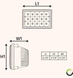 4pc ols 4x6 45w led sealed beam headlight assembly three headlight wire diagram led headlight diagram [ 900 x 900 Pixel ]
